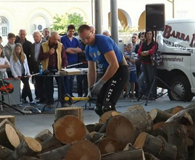 Most wooden logs split with axe in 3 hours