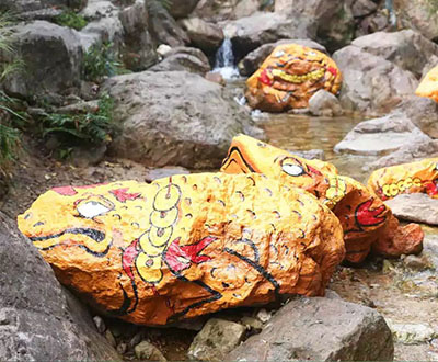 Largest display of 3D painted rocks