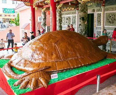 Largest turtle-shaped glutinous rice cake